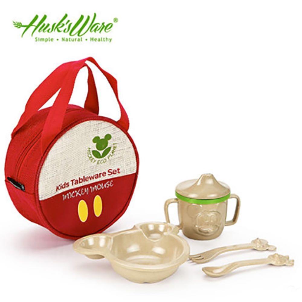 環保、無毒開學品成媽咪首選 ! HerBuy精選美國Husk's ware天然稻殼無毒環保兒童餐具組,期待替寶貝打造安全的飲食環境