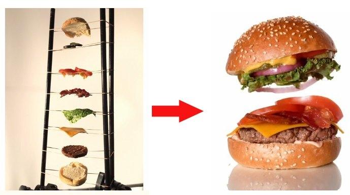 漢堡在空中飛的廣告片段是這樣拍的