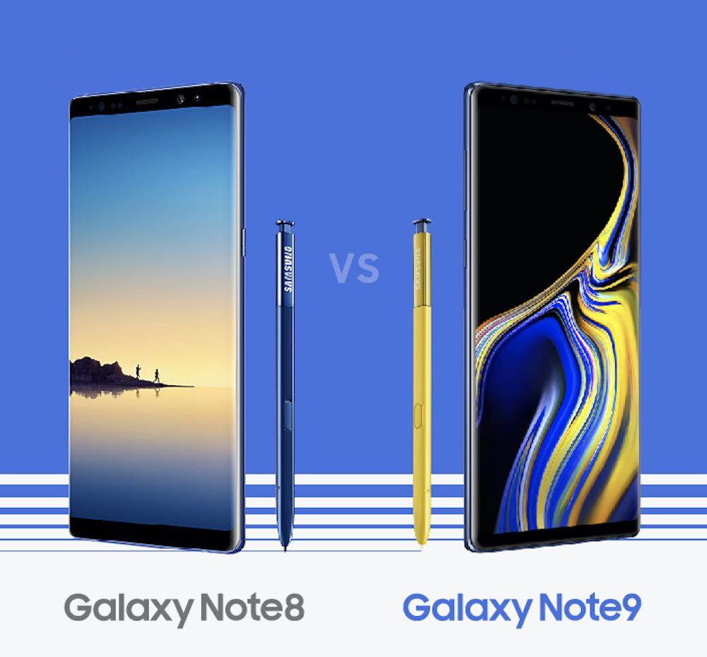 [比一比] Note 8 vs. Note 9