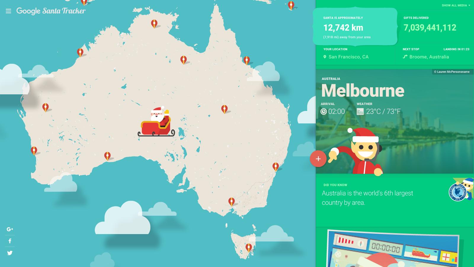 Google 聖誕老人追蹤器 要來了!