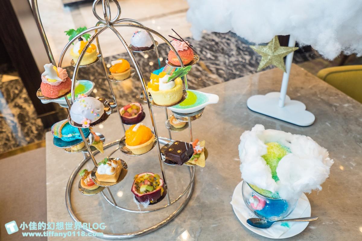 [台北下午茶]台北南港六福萬怡大廳酒吧/超值夢幻跟著雲朵去旅行鳥籠下午茶/好吃好拍的雙人下午茶推薦