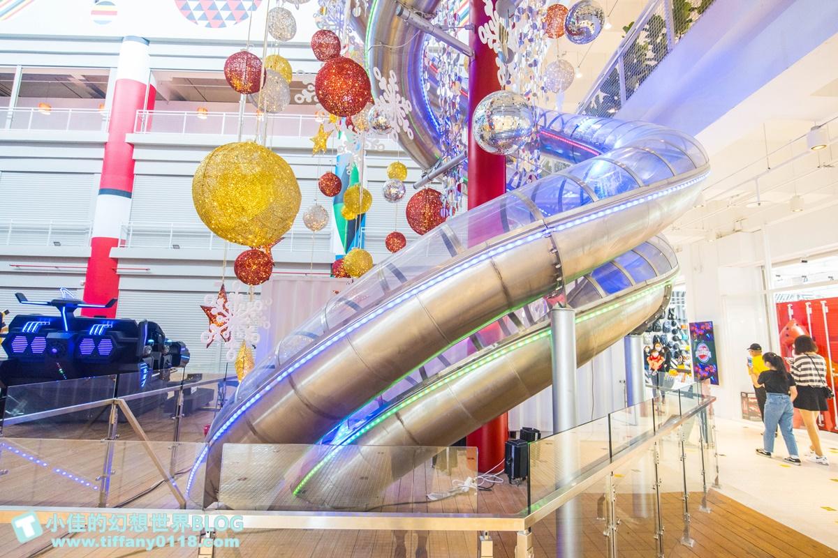 [花蓮景點]新天堂樂園各樓層介紹/全世界室內最長雙螺旋溜滑梯+全球最大貨櫃星巴克